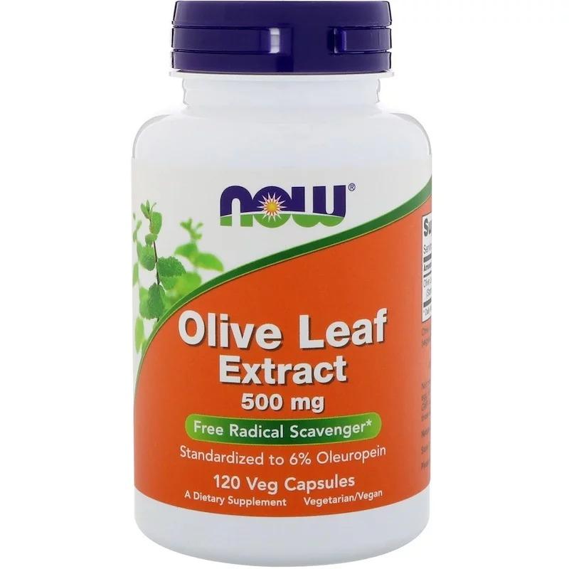 Now Foods, Экстракт из листьев оливкового дерева, 500 мг, 120 растительных капсул