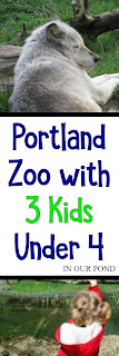 Portland Zoo with 3 Kids Under 4 from In Our Pond  #travel #pacificnorthwest #travelwithkids #roadtrip #portland #zoo #portlandwithkids #zoowithkids