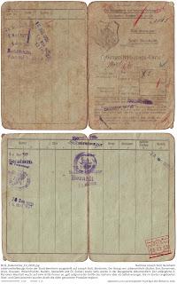 Lebensmittelbezugskarte der Stadt Bensheim 1921 - 1922 ausgestellt für Joseph Stoll