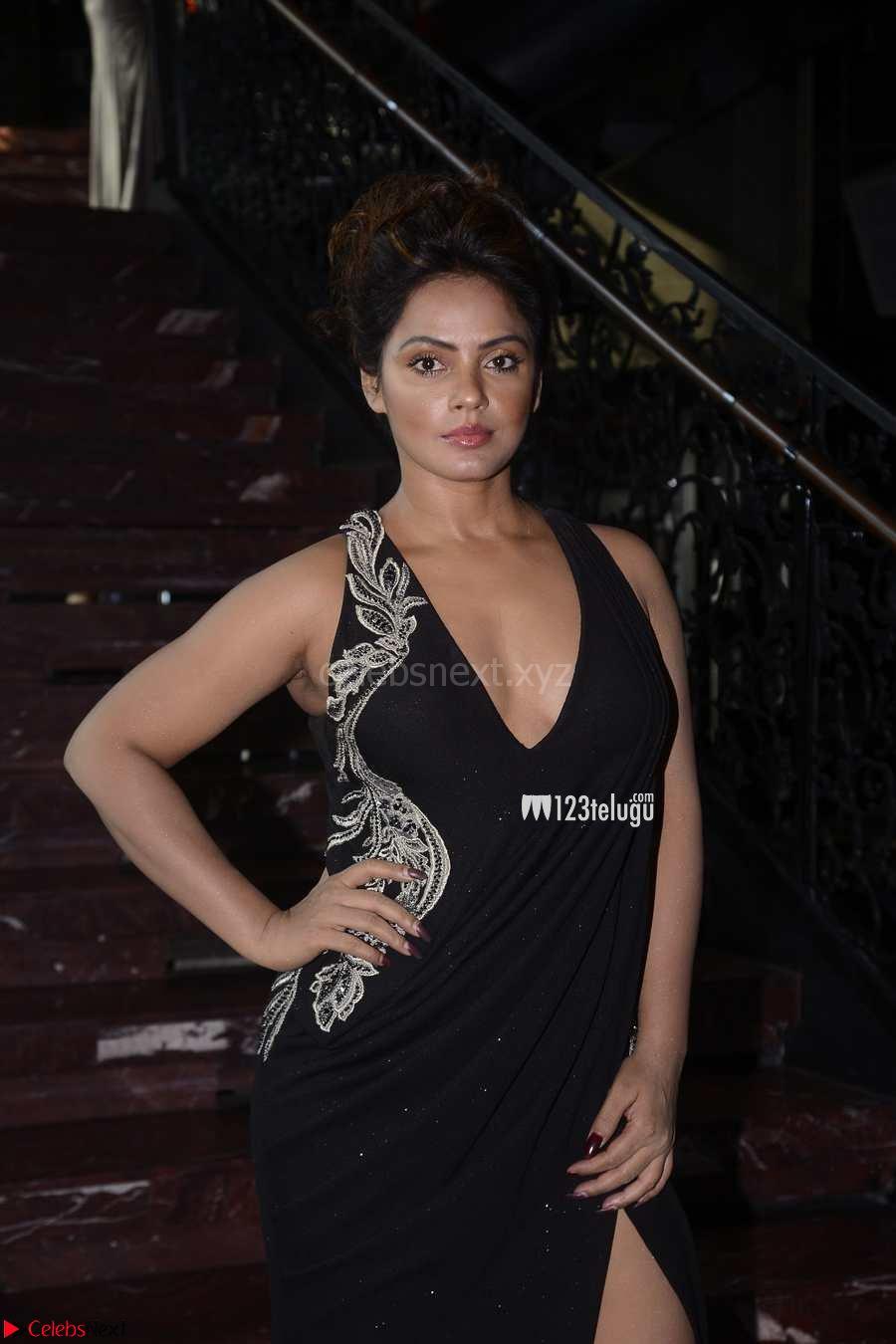 Neetu Chandra in Deep neck Black Dress