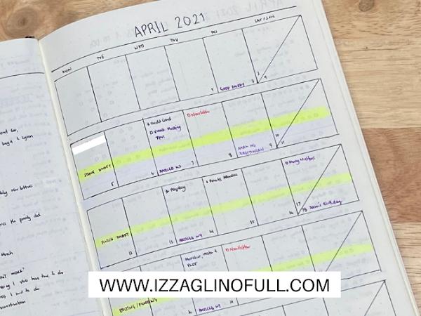 April 2021 Bullet Journal Set Up