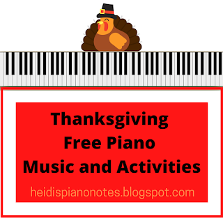 Thanksgiving Free Piano Teaching Resources