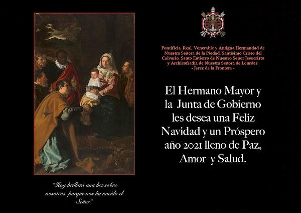 Felicitación de Navidad la Hermandad de La Piedad de Jerez de la Frontera