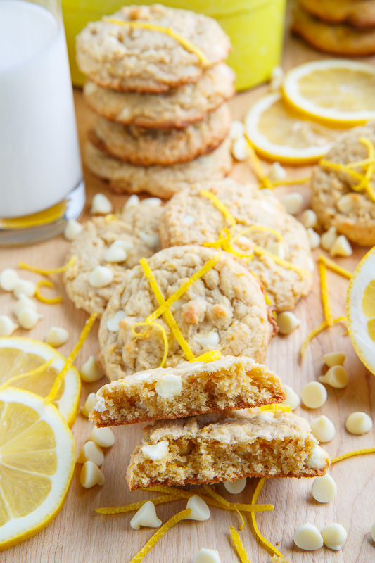 Lemon Curd White Chocolate Chip Cookies