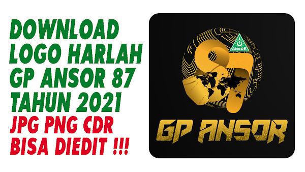 DOWNLOAD LOGO HARLAH GP ANSOR 87 - FORMAT JPG PNG CDR  - TAHUN 2021