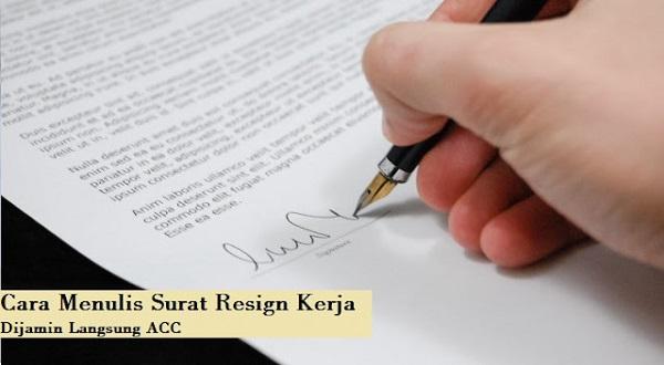 menulis surat resign kerja
