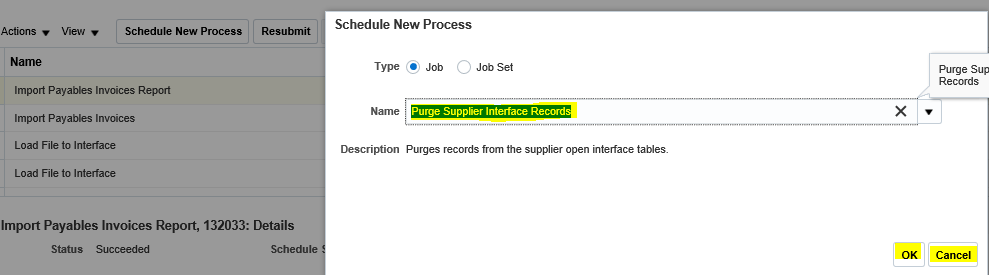 Oracle Application's Blog: How to Purge Supplier Interface