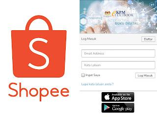 Shopee padam jualan buku digital Kementerian Pendidikan di gerbangnya