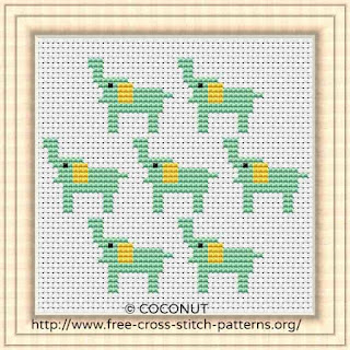 Elephant, Free and easy printable cross stitch pattern
