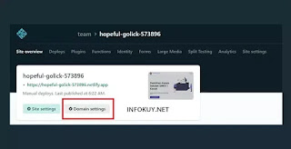 atur nama domain custom di netlify #1