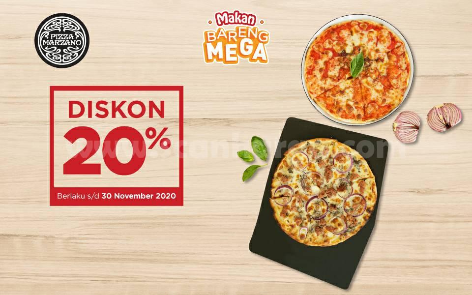 Promo Pizza Marzano Diskon 20% dengan Kartu Kredit Bank Mega