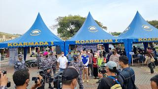 TNI AL Serbu Vaksinasi Covid-19  di Marrakash Square Bekasi Raih  3.735 Orang.