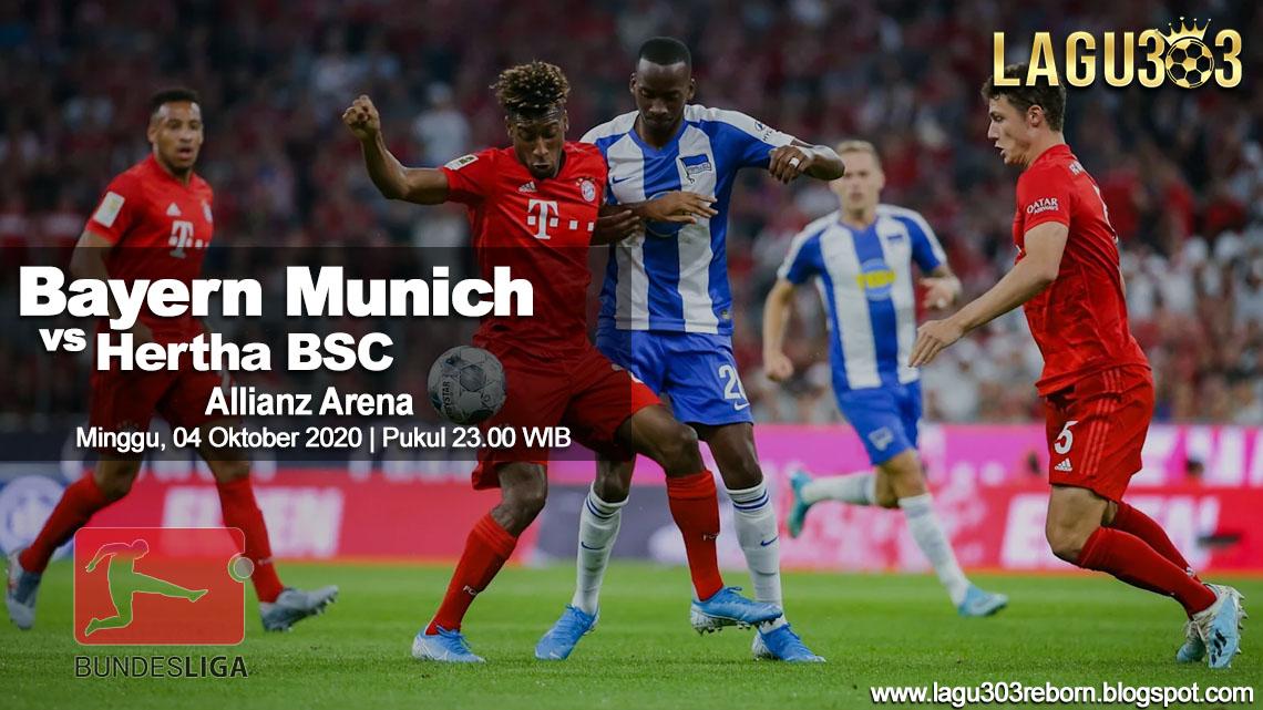Prediksi Bayern Munich vs Hertha BSC 04 Oktober 2020 pukul 23.00 WIB