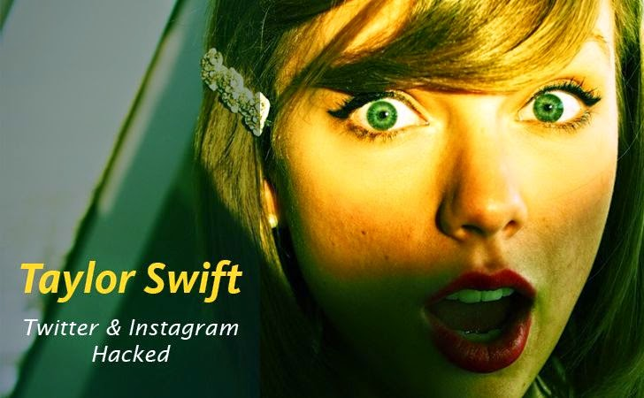 Taylor Swift's Twitter and Instagram Accounts Hacked