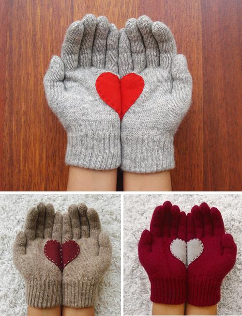 Guantes de corazones