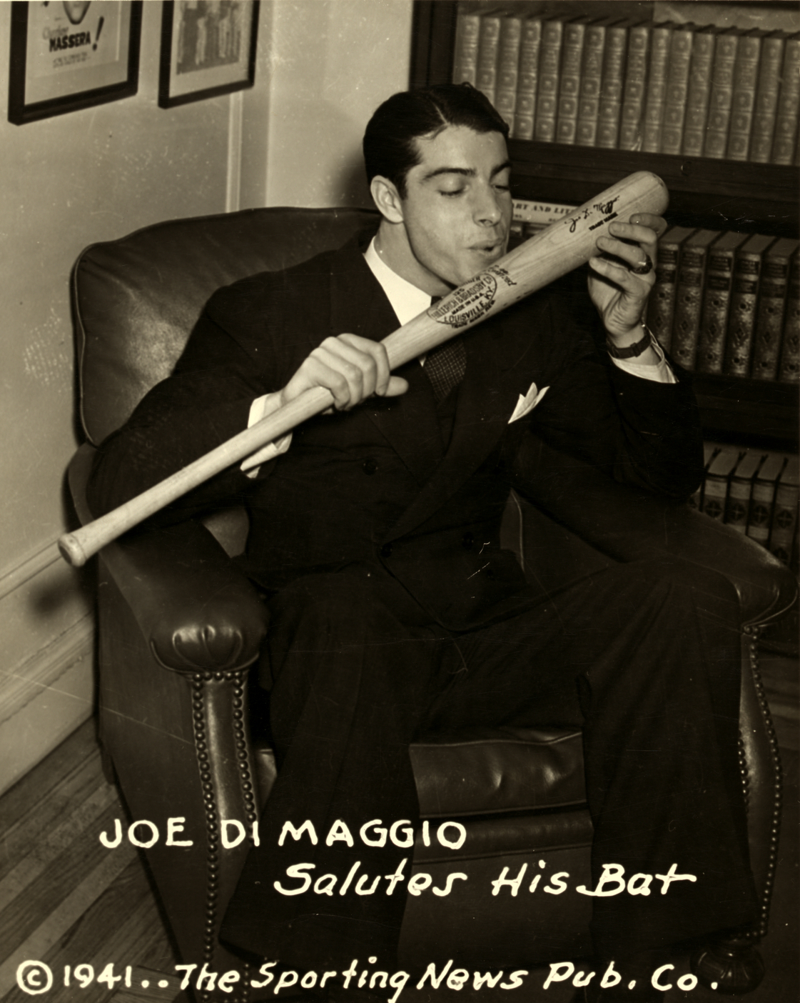 Joe DiMaggio of the New York Yankees