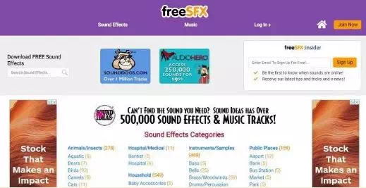 Situs Terbaik Download Sound Effect Bebas Royalti-2
