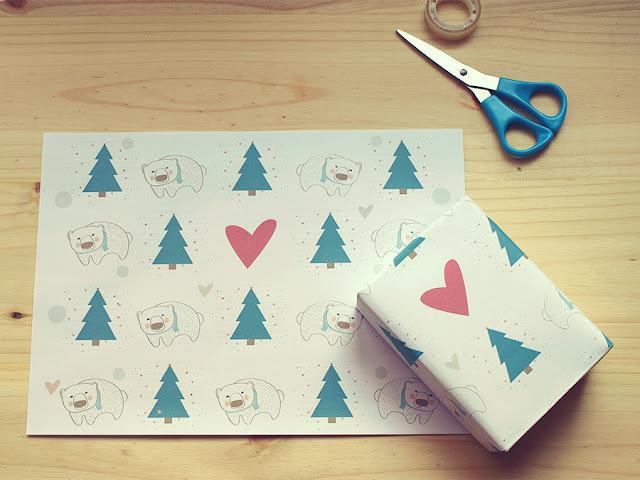 [freebie] Imprimible con sabor a Navidad para decorar una pared, envolver regalos...