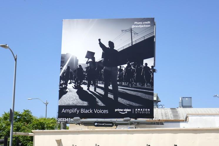 Amplify Black Voices Amazon billboard