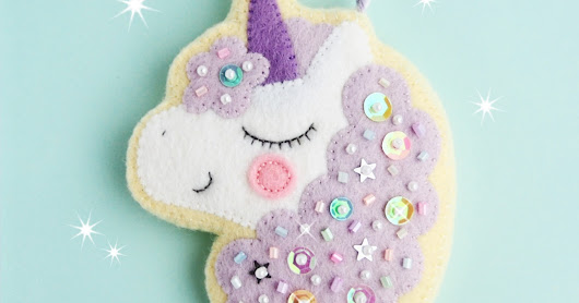 New Etsy Pattern - Magical Unicorn Sugar Cookie Charm