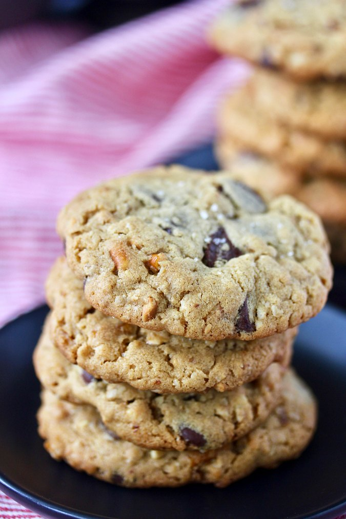 Peanut Butter and Pretzel Chocolate Chip Cookies