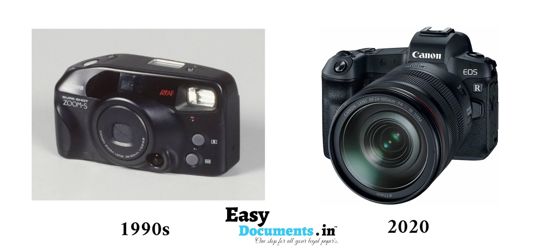 Camera in 90s vs 2020
