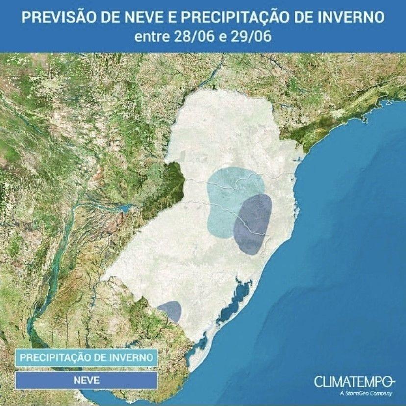 Massa de ar polar pode gerar neve na região Sul do Brasil