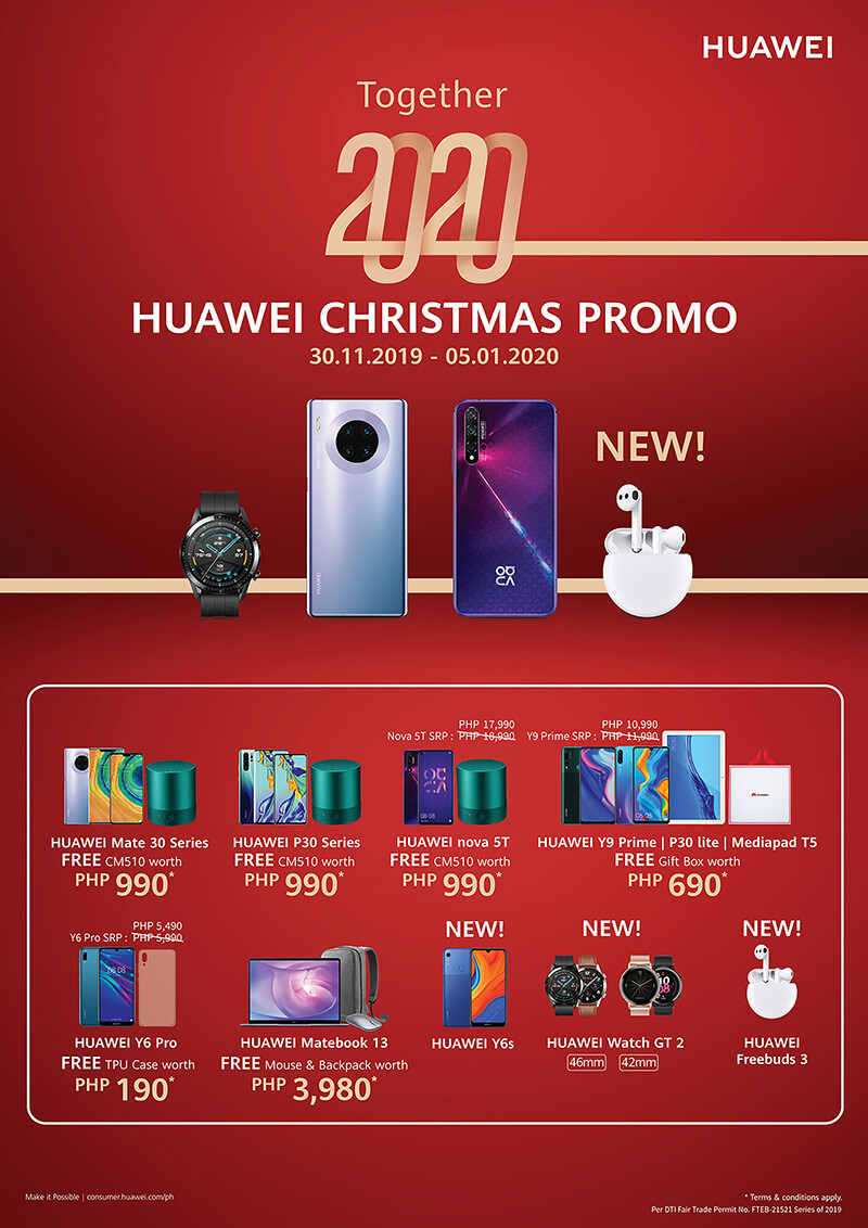 Huawei Christmas 2020 Huawei Philippines announces Christmas 2019 promos!