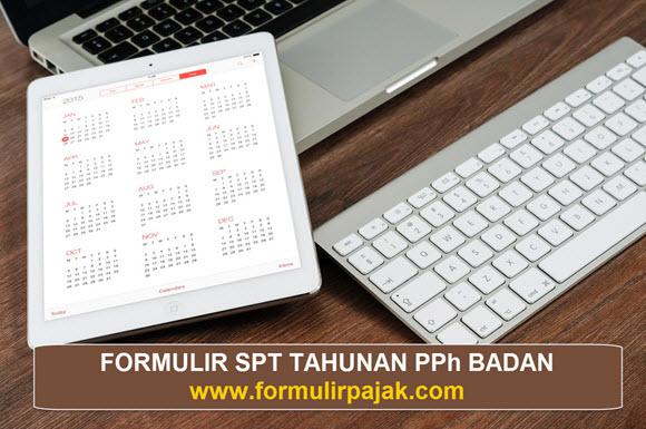 Formulir SPT PPh Badan Excel