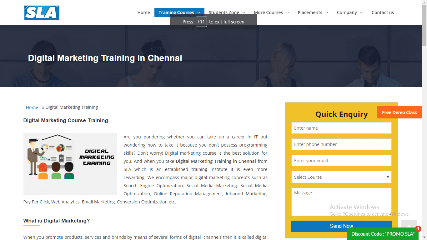 SLA Jobs Digital Marketing Training Institute in Chennai Amudhakumar