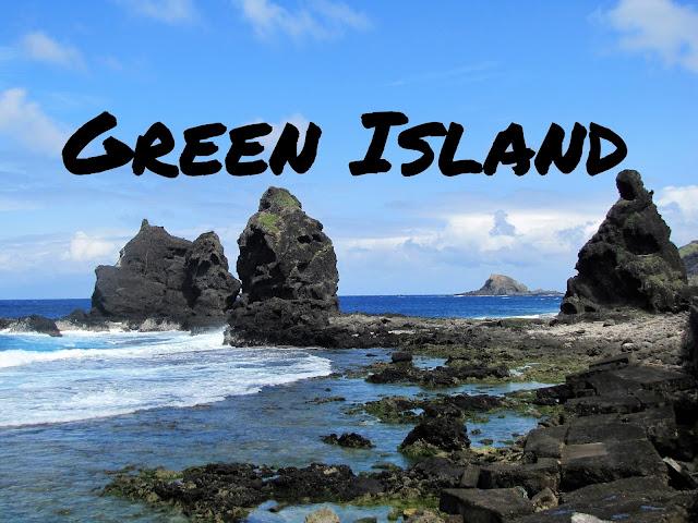 rocks ocean green island taiwan