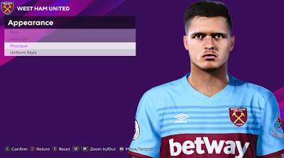 PES 2020 Faces Gonçalo Cardoso by Rachmad ABs
