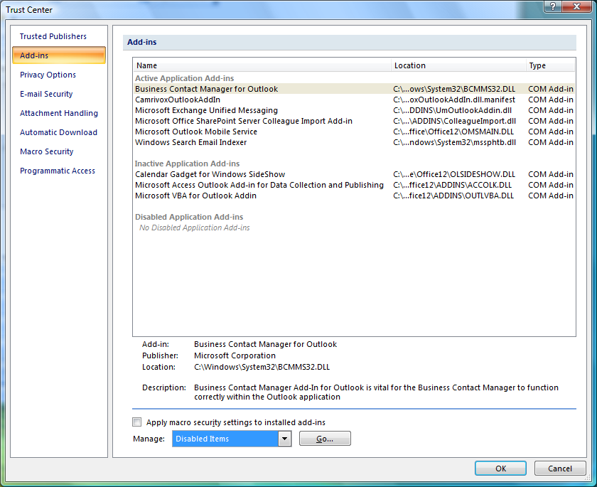 Outlook2007-Add-ins-Dialog