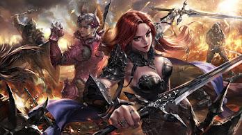 Epic, Fantasy, Warrior, Sword, Battle, 4K, #6.2548