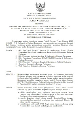 Kasus Corona Di Padangpariaman Meningkat Baralek Dilarang Akad Nikah Dengan Protokol Ketat Tribun Pariaman