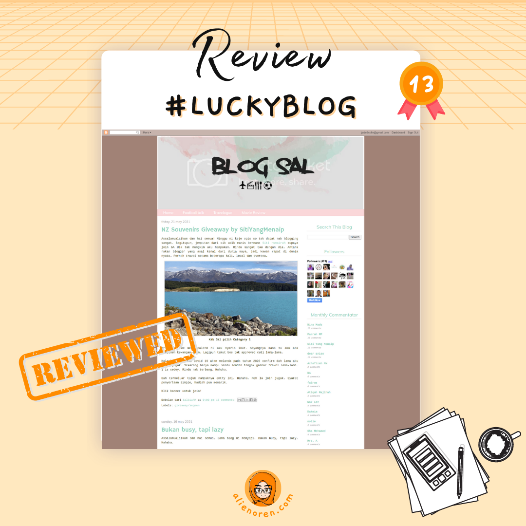 Review #luckyblog 13: Blog Sal