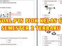 Soal PTS PJOK Kelas 6 Semester 2 K13 dan Kunci Jawaban