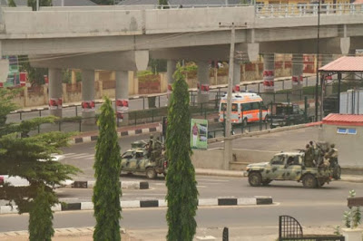 Soldiers Patrolling Ekiti After APC Governorship Victory (Photos)