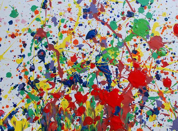 Jackson Pollock Splatter Painting of Paint
