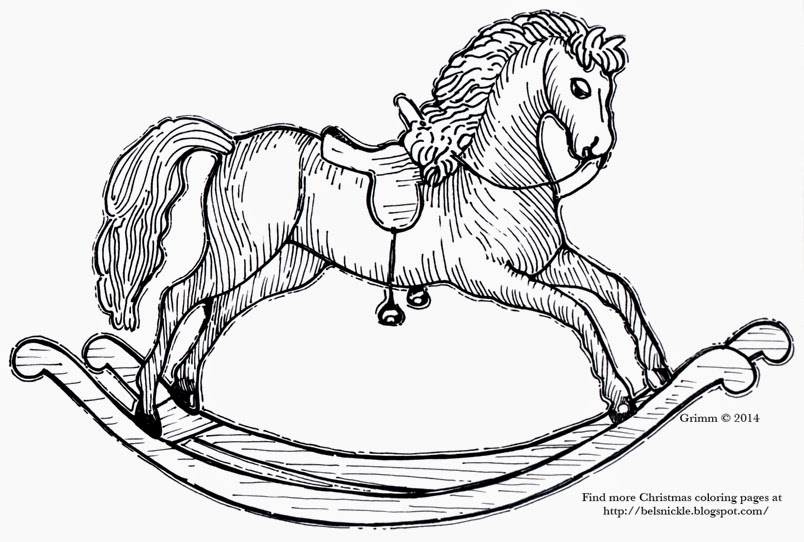 Belznickle Blogspot : A toy rocking horse coloring page