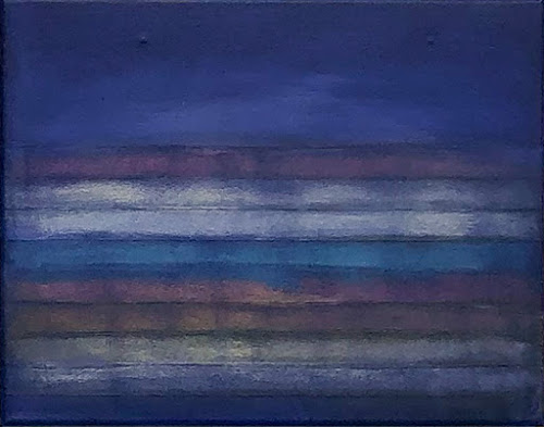 Blue Study 8, 2020. Oil on canvas, 14 in. H x 18 in. W.