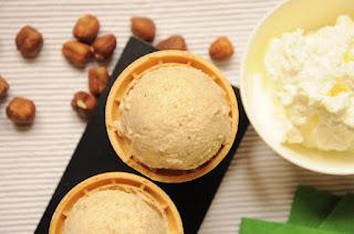Hazelnut Ice Cream with Thermomix