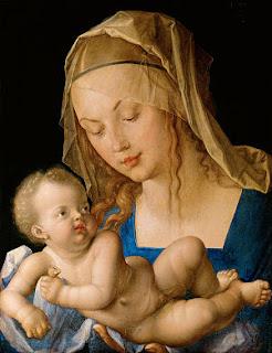 Madonna con Bambino di Albrecht Dürer ciuccio