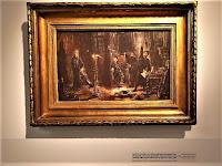 Twardowski wywołujący Ducha  Barbary przed Zygmuntem Augustem