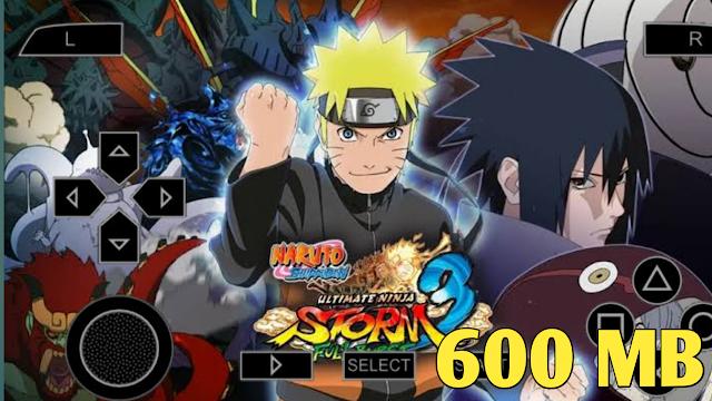 600 MB Naruto Ultimate Ninja Storm 3 PSP ROM File Highly Compressed File