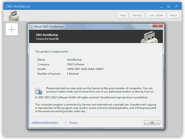 Screenshot O&O AutoBackup Pro 6.0.88 Full Version
