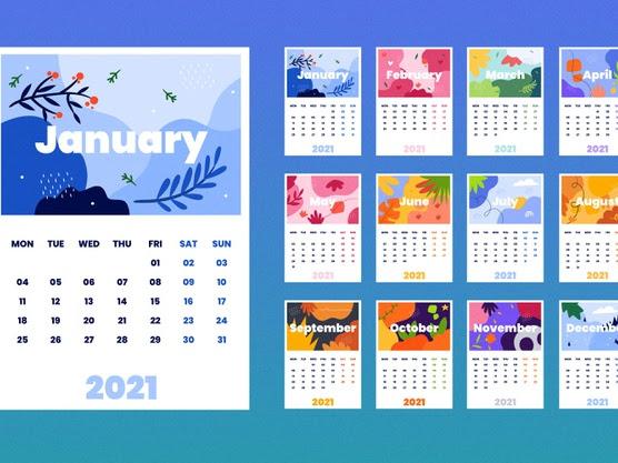 calendario mensual 2021