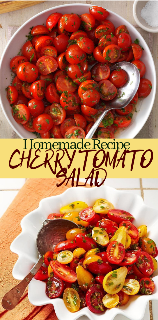 CHERRY TOMATO SALAD #healthyfood #dietketo #breakfast #food
