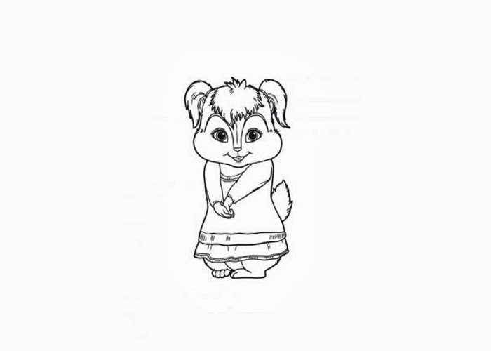 Alvin and The Chipmunks Free Chipettes Printable Coloring Page ... | 500x700
