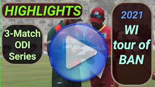 Bangladesh vs West Indies ODI Series 2021